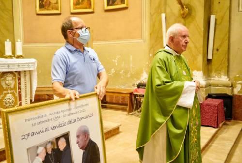 Castelferretti, festa per i 27 anni di servizio pastorale di don Gabriele Ruzziconi