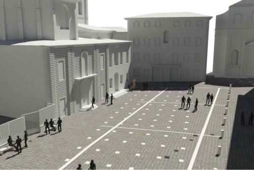 Jesi, sarà così la nuova piazza Federico II