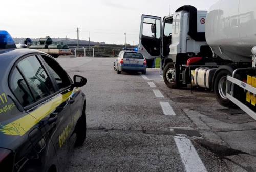 Pesaro, controlli a tappeto sui trasporti di prodotti petroliferi per evitare frodi
