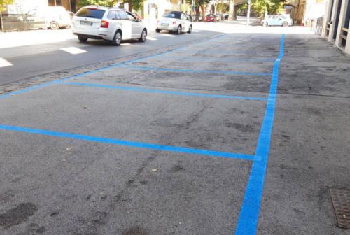 Jesi, spuntano i nuovi parcheggi blu in viale della Vittoria e alle Conce
